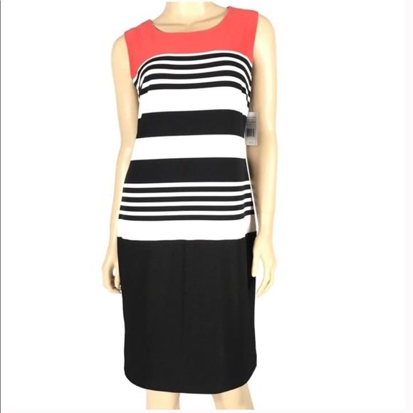 Ronni Nicole Dresses & Skirts - Ronni Nicole Sleeveless Striped Dress Sz 12 NEW